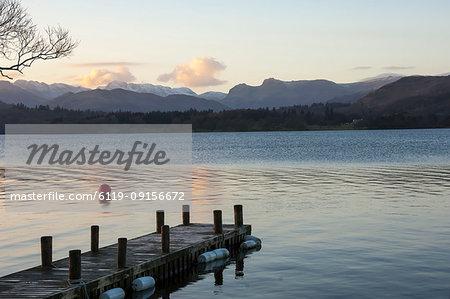 Langdale Pikes, Lake Windermere, Lake District National Park, UNESCO World Heritage Site, Cumbria, England, United Kingdom, Europe