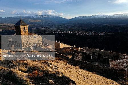 Mountain church, Santa Engracia, Catalonia, Spain, Europe