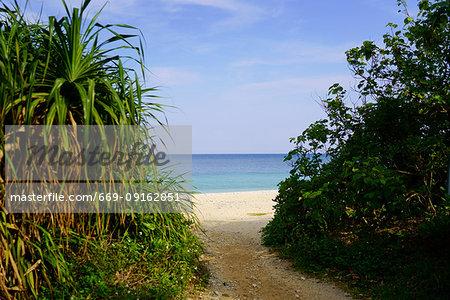 Beach in Ishigaki Island, Okinawa Prefecture, Japan
