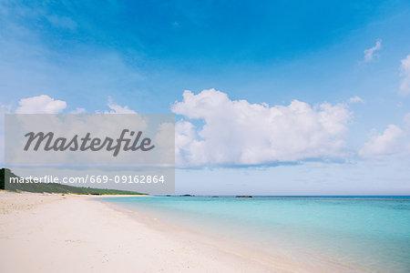 Beach in Hateruma Island, Okinawa Prefecture, Japan