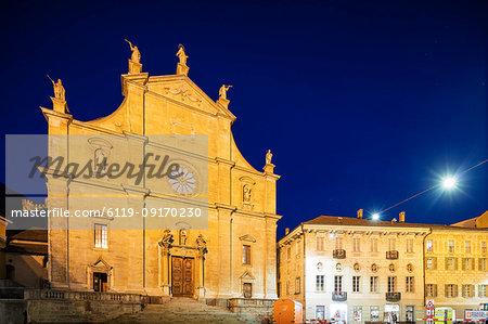 La Collegiata church of St. Peter and Stephan, UNESCO World Heritage Site, Bellinzona, Ticino, Switzerland, Europe