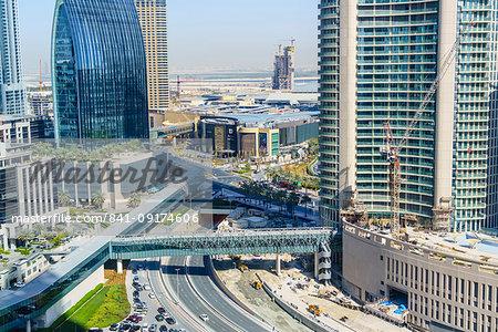 Downtown district, Dubai, United Arab Emirates, Middle East