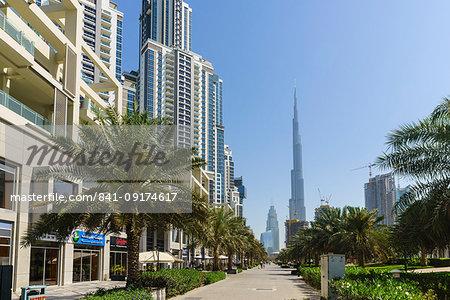 Burj Khalifa viewed from Business Bay, Dubai, United Arab Emirates, Middle East