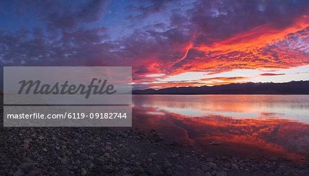 Lake Pukaki at sunset, South Island, New Zealand, Pacific