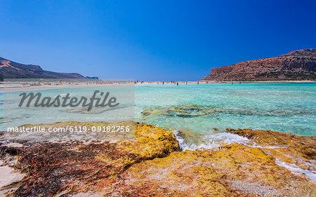 Balos Bay Beach, Gramvousa Peninsula, Crete, Greek Islands, Greece, Europe