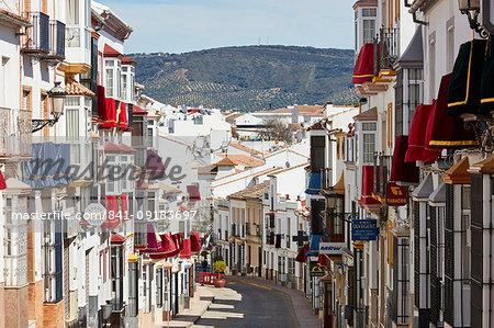 Semana Santa decoration in Olvera, Andalucia, Spain, Europe