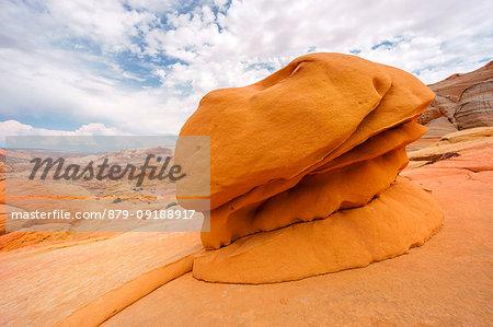 Hamburger Rock, amazing rock formation near The Wave, Coyote Buttes North, Arizona, West coast, Usa