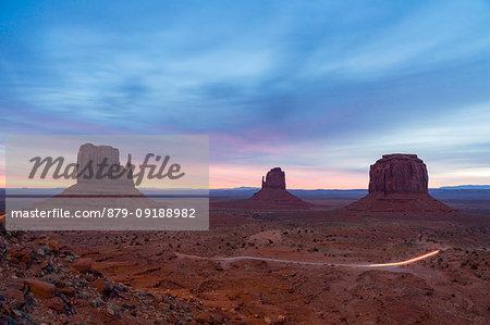 Dawn in Monument Valley Tribal Park, Utah, Usa