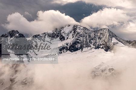 The North Face of Mount Disgrazia, Chiareggio, Valmalenco, Province of Sondrio, Lombardy, Italy