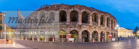 Verona Arena at dusk. Verona, Veneto, Italy