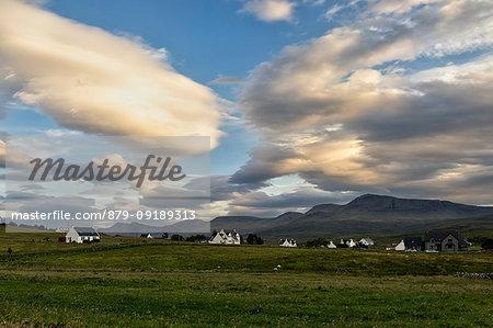 the village of Staffin, Isle of Skye, Inner Hebrides, Scotland, Europe
