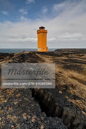 Svortuloft lighthouse, Vesturland, Western Iceland, Europe