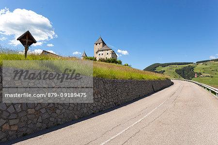 Tor Castle, San Martino in Badia, Badia Valley, South Tyrol, Bolzano province, Italy.