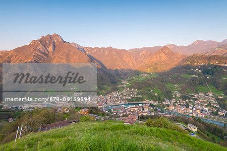 San Pellegrino and his peaks at dawn, Val Brembana, Orobie alps, Italian alps, Province of Bergamo, Italy
