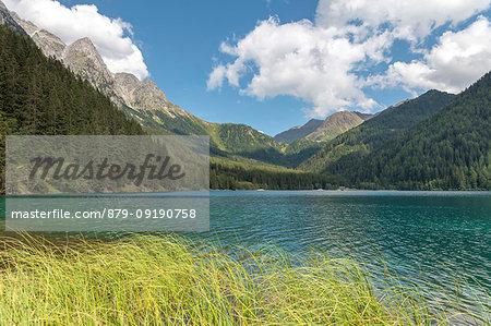 Anterselva / Antholz, province of Bolzano, South Tyrol, Italy. The lake Anterselva