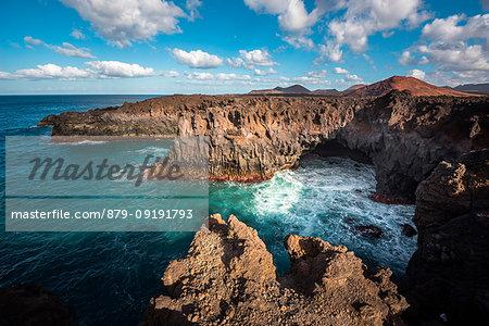 Cliffs in Los Hervideros, Timanfaya National Park, Lanzarote, Canary Island, Spain,Europe