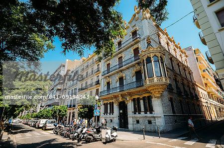 Traditional Catalan-style architecture on Rambla Nova, Tarragona, Catalonia, Spain, Europe