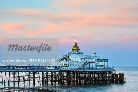 Eastbourne Pier at dusk, Eastbourne, East Sussex, England, United Kingdom, Europe