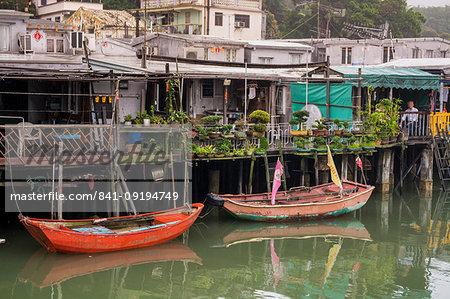 Stilt houses in Tai O Village, Lantau Island, Hong Kong, China, Asia