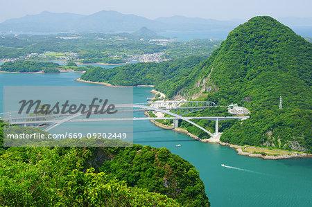 Amakusa Tenjo Bridge and First Bridge , Kumamoto Prefecture, Japan