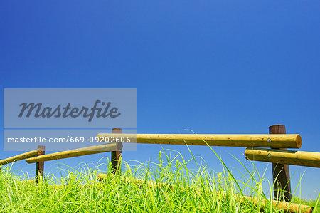 Blue Sky in Aso, Kumamoto Prefecture, Japan