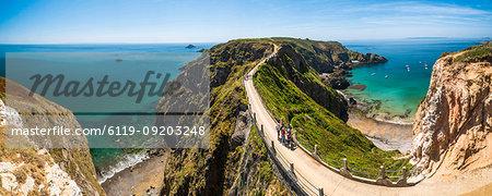 La Coupee, Sark Island, Channel Islands, United Kingdom, Europe