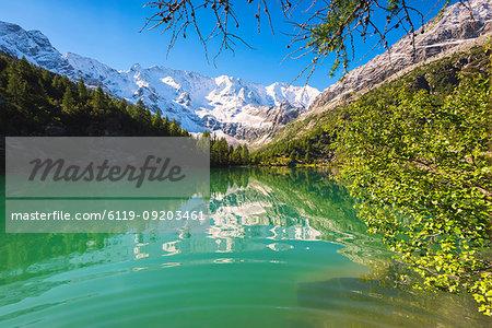 Aviolo Lake in Adamello Park, Val Camonica, Brescia province, Lombardy, Italy, Europe