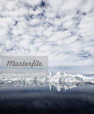 Clouds and iceberg, Ilulissat, Jakobshavn, Greenland
