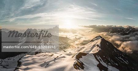 View of Bavarian Alps at sunrise, Oberstdorf, Bavaria, Germany