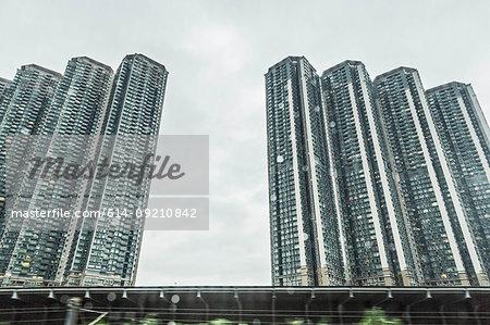 Rows of apartment blocks, Hong Kong, China