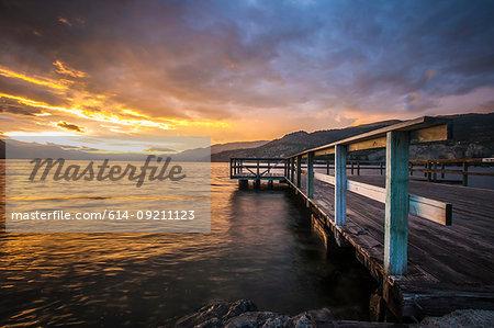 Wharf Park and Okanagan Lake in the South Okanagan Valley, Naramata, British Columbia, Canada