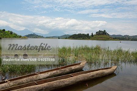 Mokoro canoes in Lake Mutanda, Uganda