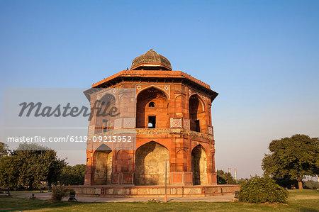 Sher Mandal tomb, Purana Quila, Old Fort, Delhi, India, Asia