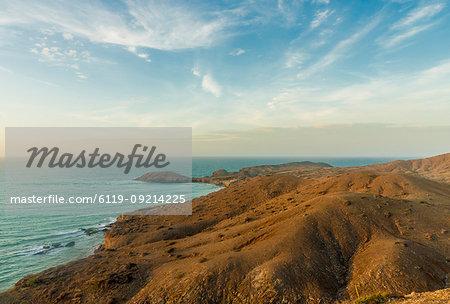 The view from Ojo Agua viewpoint in Cabo de la Vela, Guajira, Colombia, South America