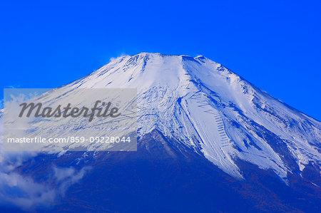 Close-up view of Mount Fuji