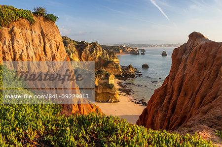 Cliffs at Camilo Beach, Lagos, Algarve, Portugal, Europe