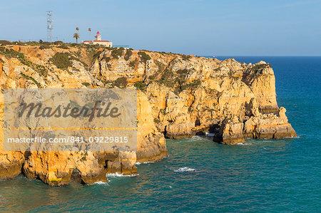 Lighthouse at Ponta da Piedade, Lagos, Algarve, Portugal, Europe