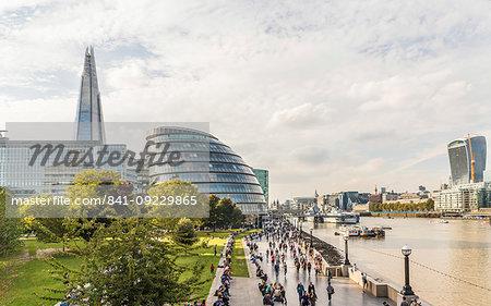 City Hall and the Shard, London, England, United Kingdom, Europe
