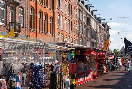 De Pijp Market, Amsterdam, Noord Holland, Netherlands, Europe