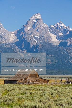 John Moulton Barn, Mormon Row, Grand Teton National Park, Wyoming, United States of America, North America