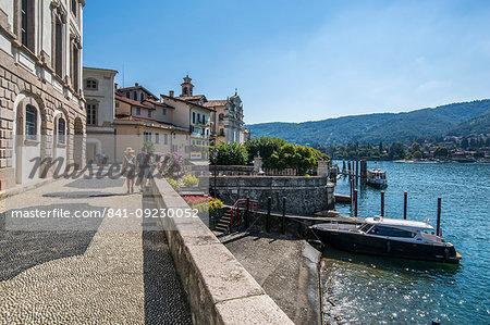 View of architecture on Isola Bella, Borromean Islands, Lago Maggiore, Piedmont, Italian Lakes, Italy, Europe