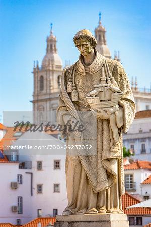 Statue of Saint Vincent, Lisbon, Portugal.