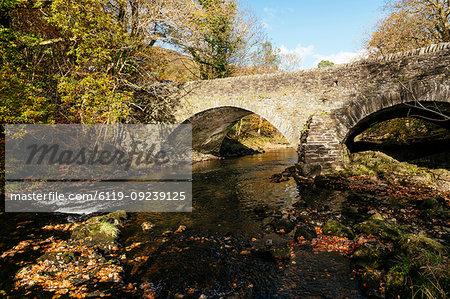Stone Bridge, Clappersgate, Lake District National Park, UNESCO World Heritage Site, Cumbria, England, United Kingdom, Europe