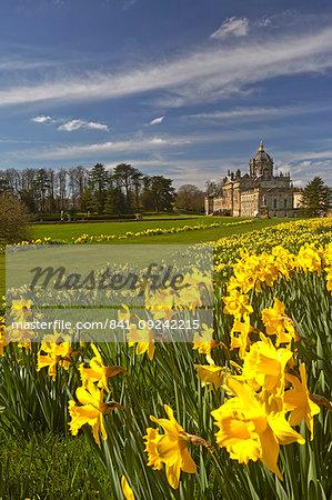 Springtime at Castle Howard, North Yorkshire, England, United Kingdom, Europe