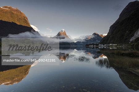 Mitre Peak, Milford Sound, Fiordland National Park, UNESCO World Heritage Site, South Island, New Zealand, Pacific