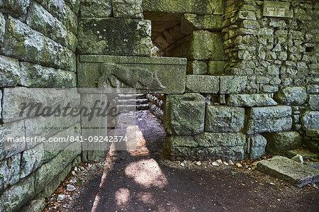 Lion door, Ruins of the Greek city, Butrint, UNESCO World Heritage Site, Vlore Province, Albania, Europe