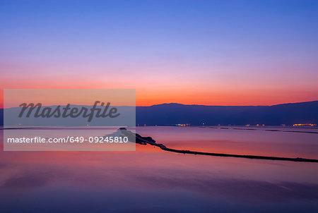 Sun rising over Dead Sea, Israel