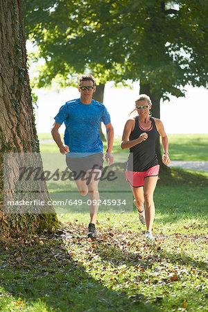 Joggers running