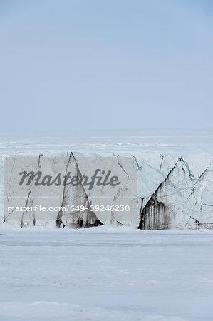 Glacier landscape, Barents Island, Svalbard, Norway
