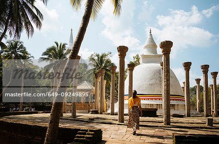 Woman at Ambasthala Dagaba, Mihintale, North Central Province, Sri Lanka